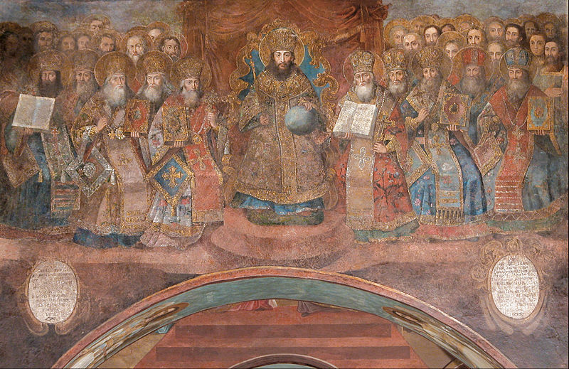 http://commons.wikimedia.org/wiki/File:The_first_Ecumenical_Council_-_Google_Art_Project.jpg