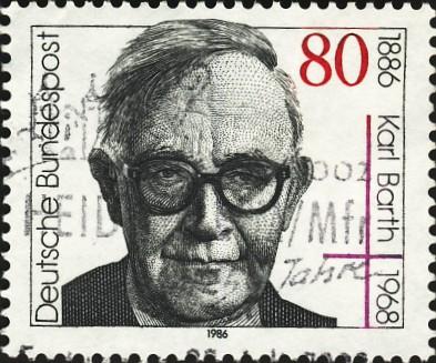 Karl Barth, stamp