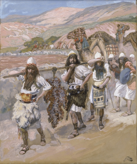 Tissot, The Grapes of Canaan (source: wikipedia)