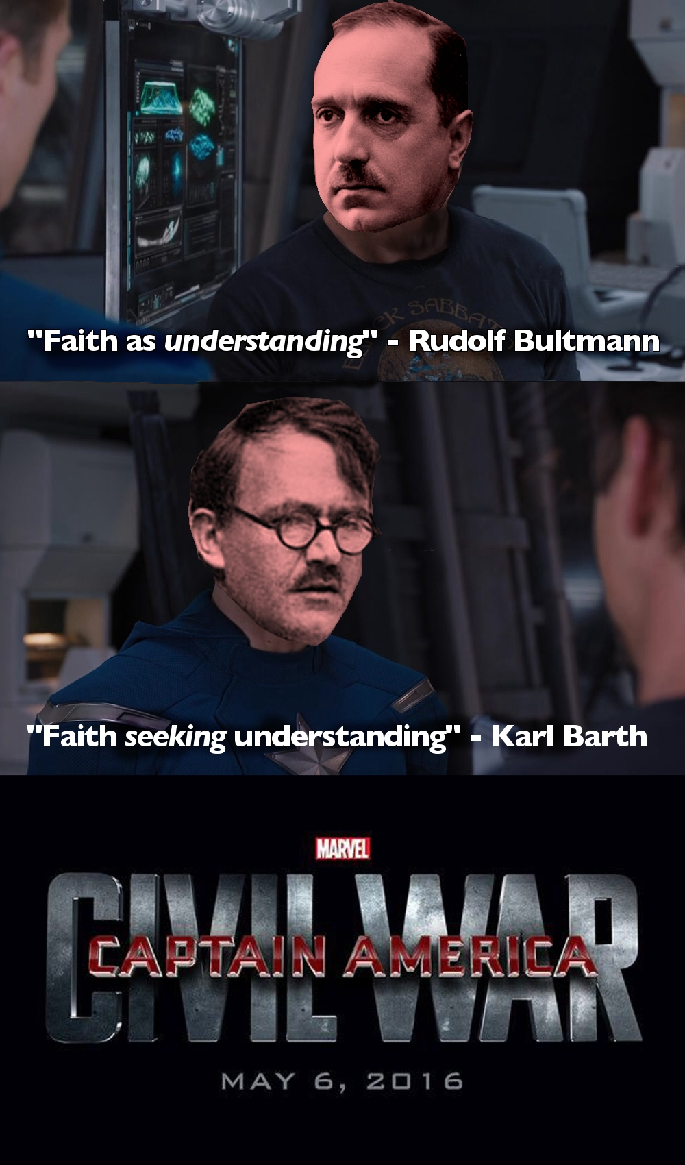 Karl Barth vs Rudolf Bultmann: Civil War