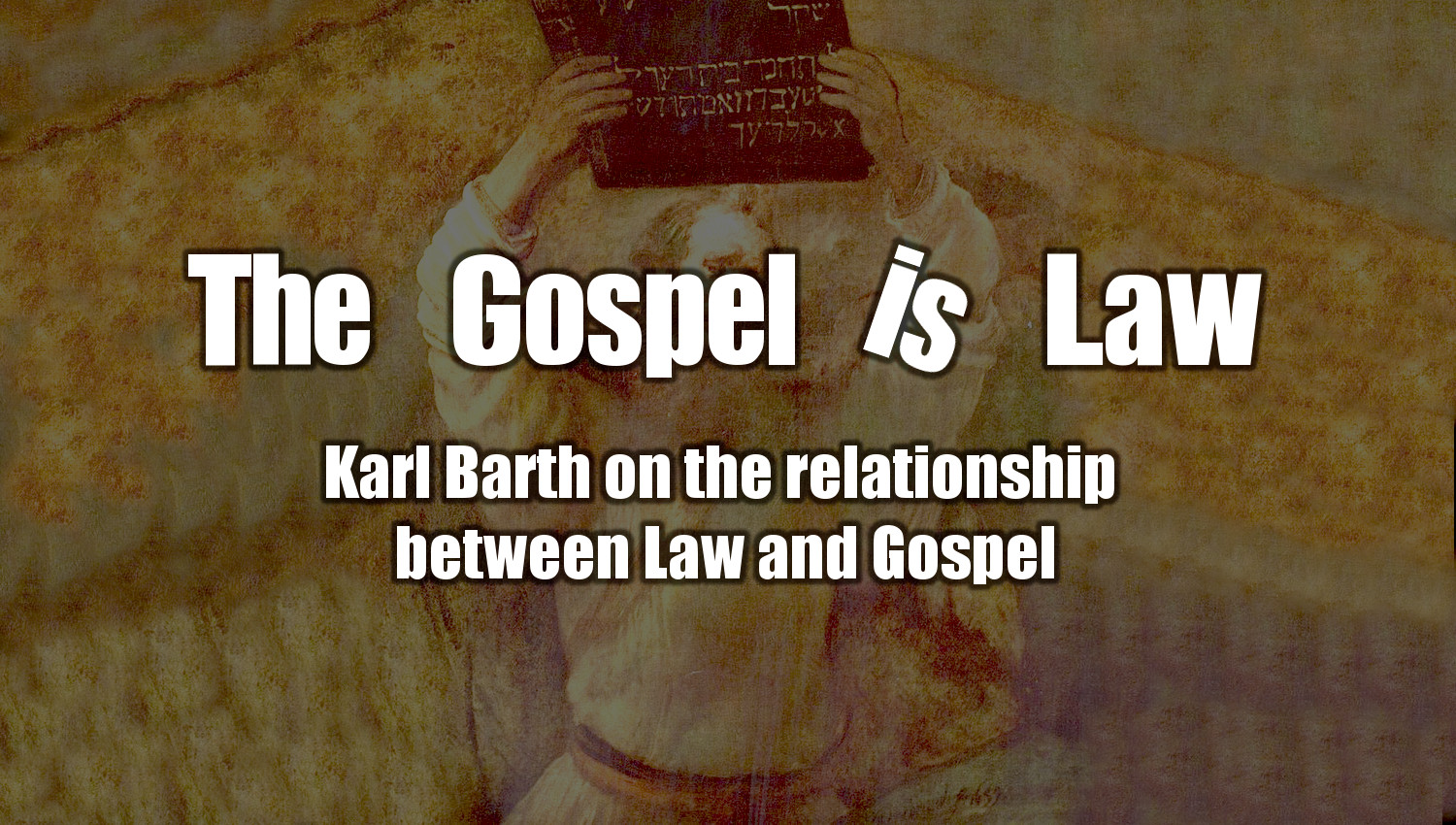 the question of the relation between the gospel and the law Relationship between the law and the gospel has pervasive implica- tions for their  theology  pannenberg and barth locate the law-gospel question within the.