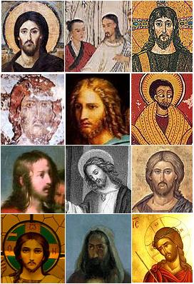 Composite of Jesus portraits (source: wikipedia)