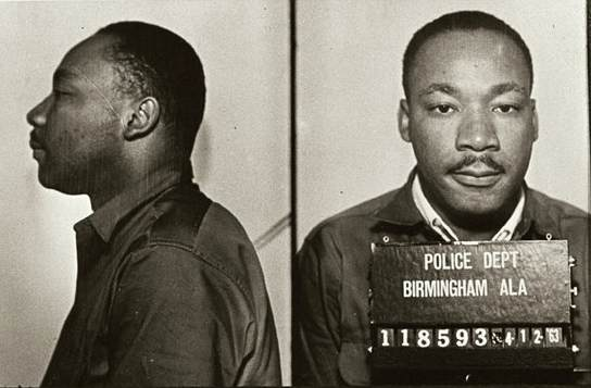 Martin Luther King, Jr.'s mugshot from his Birmingham arrest